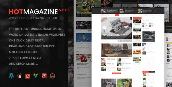 Hotmagazine v2.2.0 — News & Magazine WordPress Theme