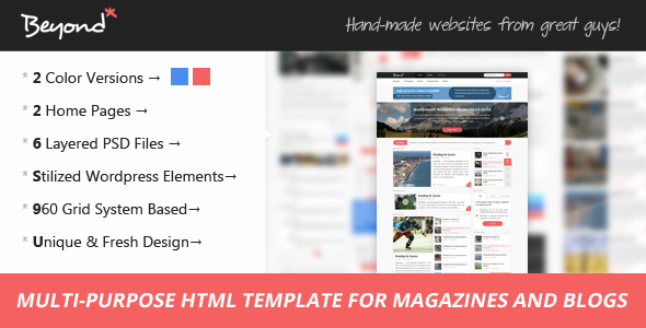 Beyond v1.1 — Multi-purpose HTML Template