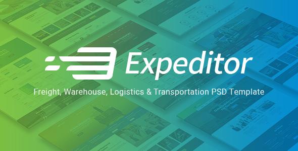 Expeditor — Logistics & Transportation PSD Template
