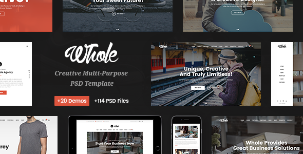 Whole — Responsive Business Multi-Purpose PSD Template