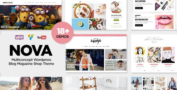 NovaBlog v1.5 — Multi-Concept Blog / Magazine WordPress Theme