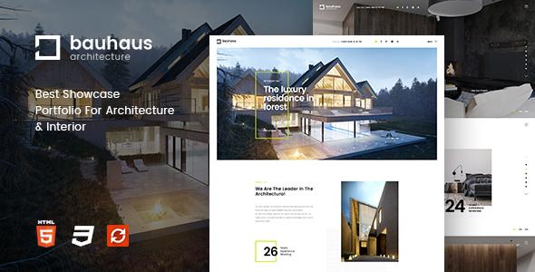 Bauhaus v1.2 — Architecture & Interior Drupal 8 Theme