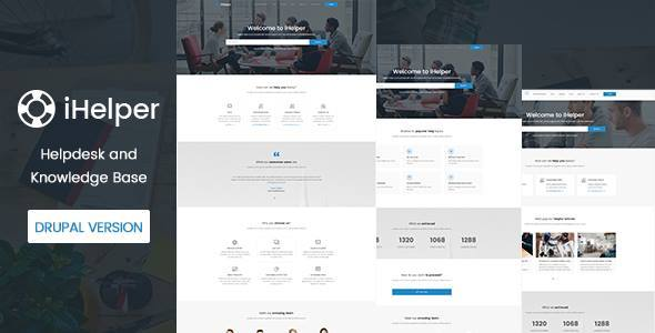 iHelper v1.1 — Drupal Knowledge & Helpdesk Theme
