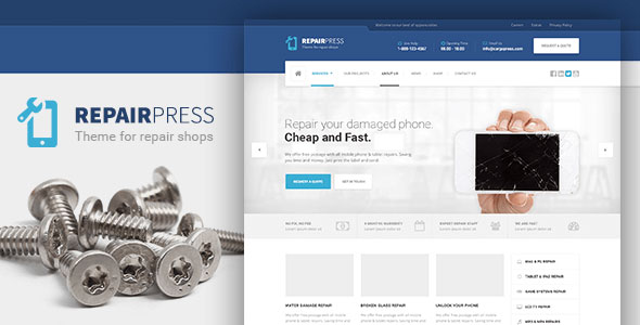 RepairPress v1.4.2 — GSM, Phone Repair Shop WP