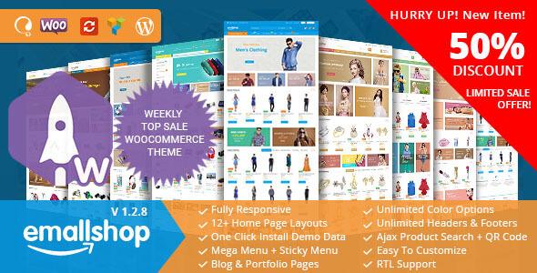 EmallShop v1.2.8 — Responsive Multipurpose WooCommerce Theme