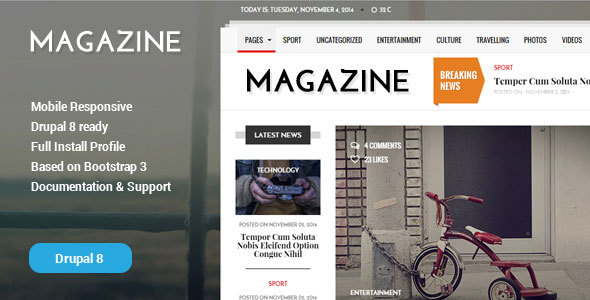 Gazeta v1.2 — News & Magazine Drupal 8 Theme