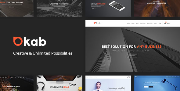 Okab v2.6.3 — Responsive Multi-Purpose WordPress Theme