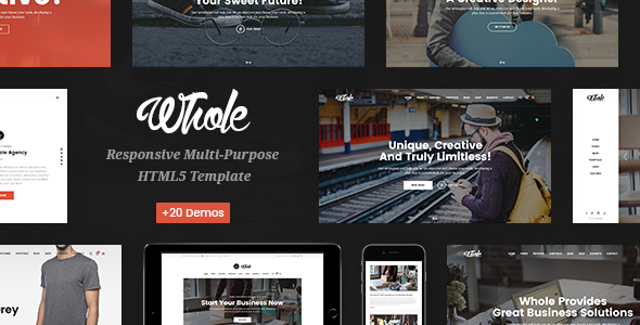 Whole — Responsive Multi-Purpose HTML5 Template