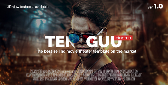Tenguu Cinema — Movie theatre HTML Template
