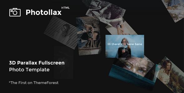 Photollax — Creative Photography Template