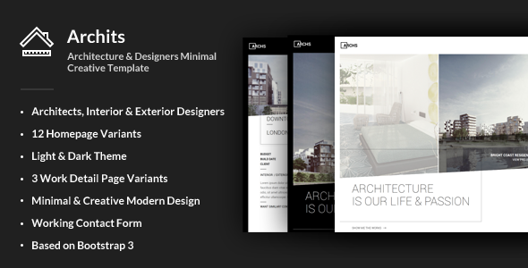 Archits — Responsive Architecture Template
