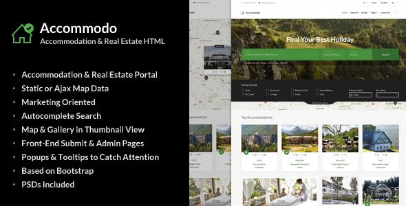 Accommodo v1.0.1 — Accommodation Travel Template