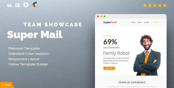 Responsive Email + Online Template Builder — SuperMail Team Showcase