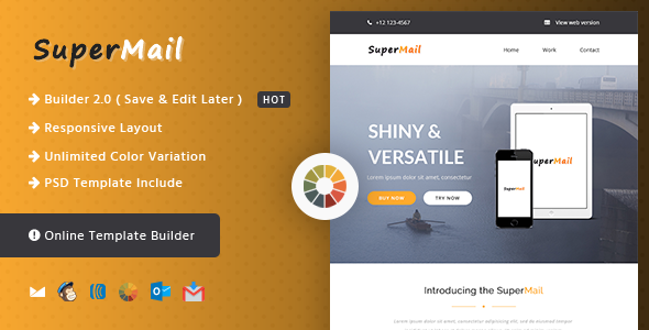 Responsive Email + Online Template Builder — SuperMail Agency