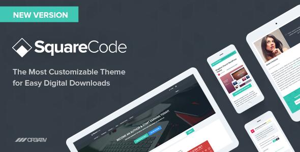 SquareCode v2.8.0 — Marketplace for Easy Digital Downloads