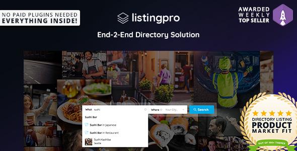 ListingPro v1.1.10 — Directory WordPress Theme