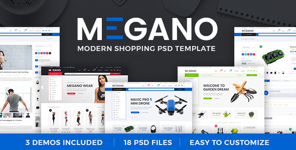 Megano — Online Store PSD Template