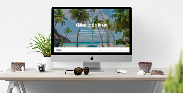 Clifton Hotel — One-Page Parallax HTML5 Travel Booking Template