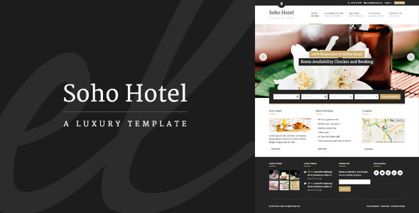 Soho Hotel v2.0.1 — Responsive Hotel Booking WP Theme