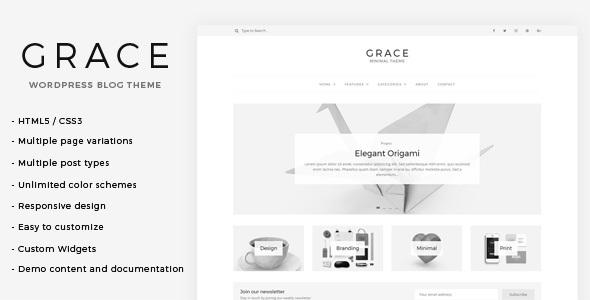 Grace v1.0 — Minimal WordPress Blog Theme
