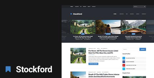 The Stockford — Responsive WordPress Blog Theme