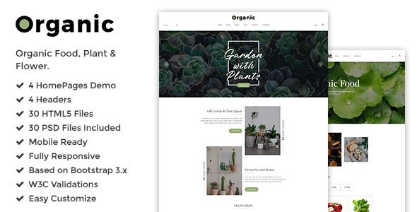 Organic — Responsive Plant, Flower & Organic Food Shop HTML5 Template