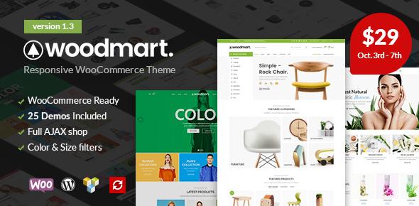 WoodMart v1.3 — Responsive WooCommerce WordPress Theme
