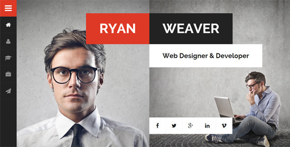 Divergent v1.7 — Personal Vcard Resume WordPress Theme