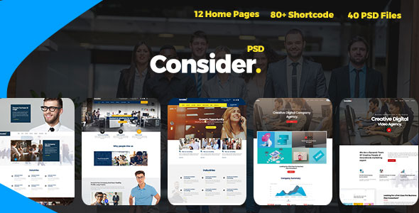 Consider — Consulting, Finance, Business Agency PSD Template