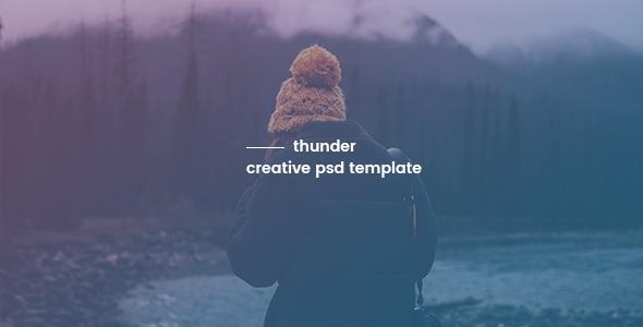 Thunder — Creative PSD Template