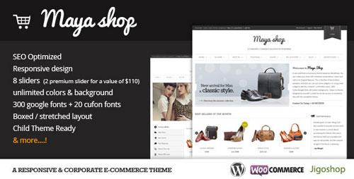MayaShop v3.1.1 — A Flexible Responsive e-Commerce Theme