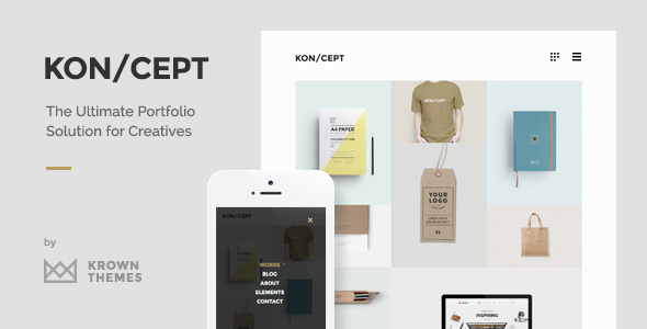 KON/CEPT v1.7.8 — A Portfolio Theme for Creative People