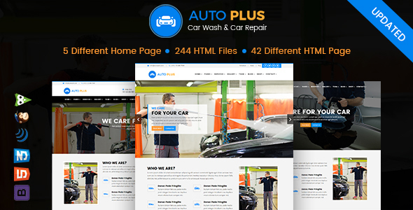 Auto Plus — Car Wash and Car Repair HTML Template