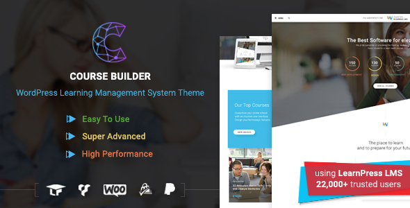 Course Builder v1.0.3 — LMS Theme for Online Courses