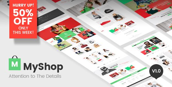 MyShop v1.0.4 — Responsive Multipurpose Premium Magento theme