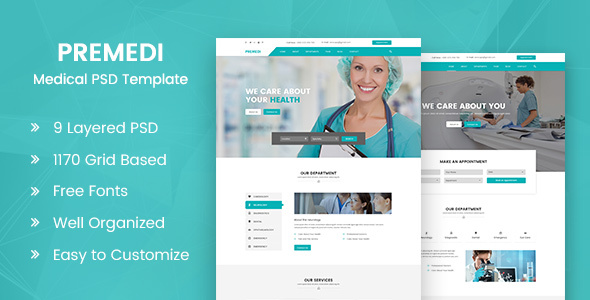 PreMedi — Hospital And Medical Multipurpose PSD Template