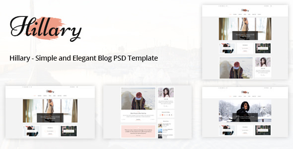 Hillary — Simple and Elegant Blog PSD Template