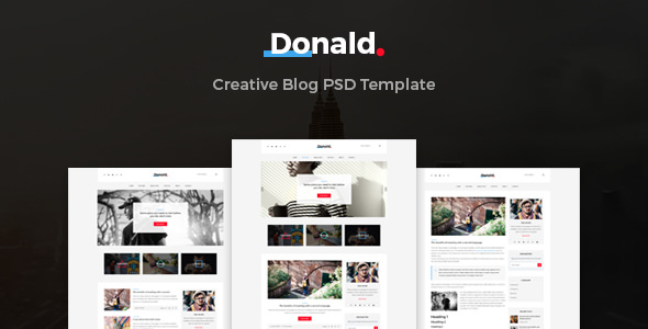 Donald — Creative Blog PSD Template