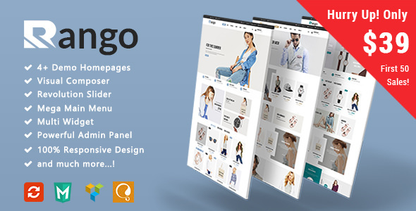 Rango v1.0 — Fashion Responsive WooCommerce Theme