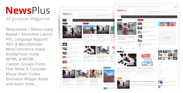 NewsPlus v2.4.6 — Magazine/Editorial WordPress Theme