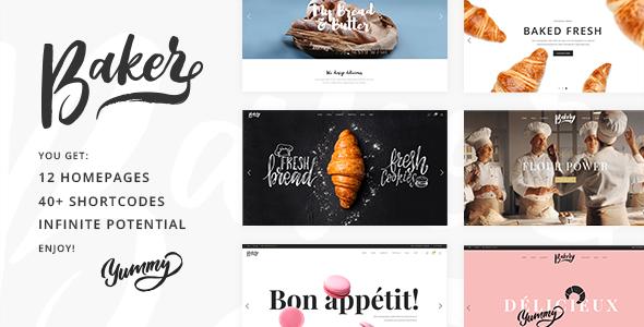 Baker v1.2 — A Fresh Theme for Bakeries, Cake Shops
