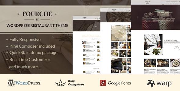 Fourche v1.1.4 — Restaurant & Cafe WordPress Theme