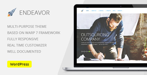 Endeavor v1.5 — Multipurpose IT Company Business, Finance Theme