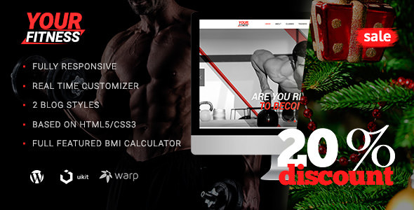 YourFitness v1.0.4 — Sport Blog Bodybuilding WordPress Theme