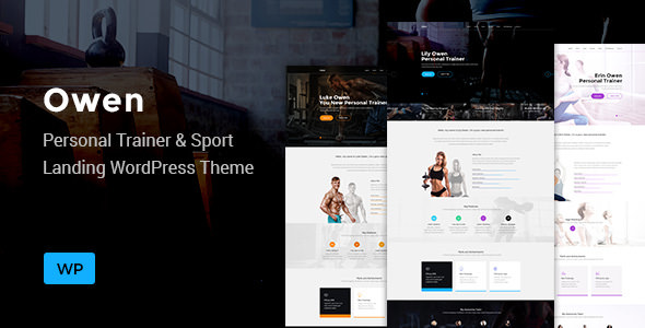 Owen v1.0.0 — Personal trainer & Sport One Page Landing Theme