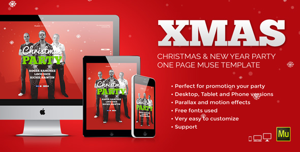 XMas — Christmas / New Year Party Muse Template