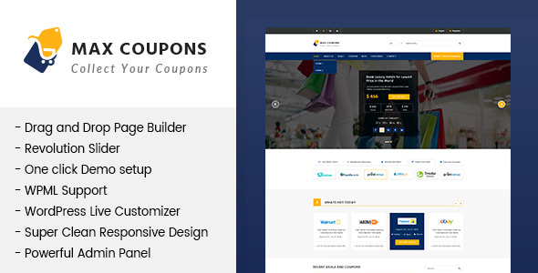 Max Coupons v1.0 — Couponry & Deals WordPress Theme