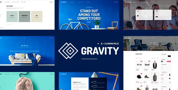 Gravity v1.0.1 — ECommerce, Agency & Presentation Theme