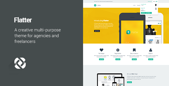 Flatter v1.6.4 — Multi-Purpose Theme for Your Creativity