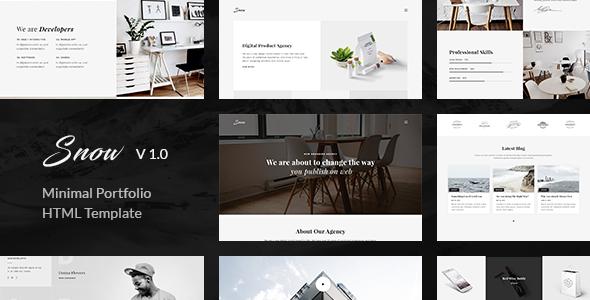 Snow — Minimal & Clean HTML Portfolio Template